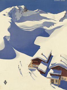 Ski Lake Tahoe Skiing American Winter Sport Sierra Nevada 16X20 Poster Repro