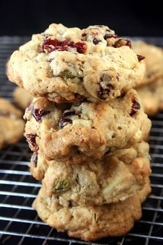 White Chocolate Cranberry Salted Pistachio Drop Cookies and a #Giveaway!