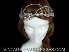 Vintage diamante rhinestone bridal headpiece - Once Upon A Time Sleeping Beauty Wedding Headpiece. £265.00, via Etsy.