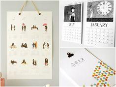 liking the left calendar... i like how it's held up