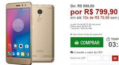 """Smartphone Lenovo Vibe K6 Dourado Dual Chip Tela 5"""" Câmera 13MP  Frontal 8MP Octa Core 32GB 2GB RAM << R$ 79990 em 10 vezes >>"""