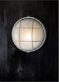 Add a modern maritime touch to your exterior lighting with the Chatham Round Bulk Head Light. The beautiful spherical caged design is crafted in Aluminium with Industrial Style Lighting, Lighting Uk, Outdoor Wall Lighting, Exterior Lighting, Outdoor Walls, Outdoor Spaces, Kitchen Lighting, Lighting Ideas, String Lights