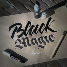 Love me some blackletter. Type by @frak_one - #typegang - typegang.com | typegang.com #typegang #typography