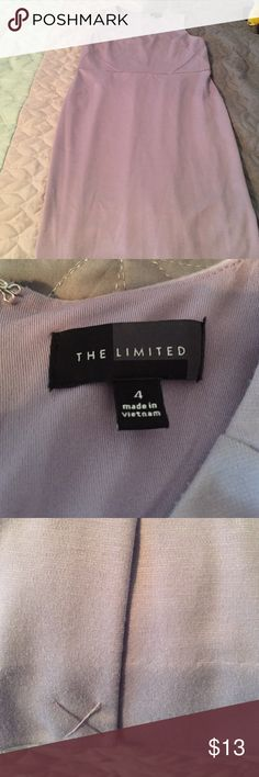 The Limited size 4 light purple sheath dress Size 4 sleeveless lavender color sheath dress from The Limited. This dress stops at the knee. The Limited Dresses