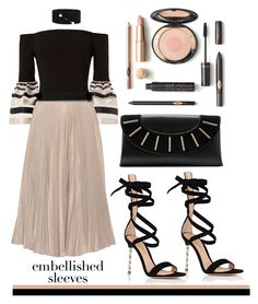 """""""Embellished Sleeves"""" by mood-chic ❤ liked on Polyvore featuring Exclusive for Intermix, Tome, Dries Van Noten, Gianvito Rossi, Diane Von Furstenberg and embellishedsleeves"""