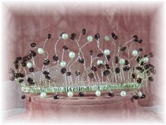 Purple Garnets & Pearl Hand Made Tiara!