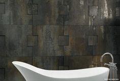 Metallic bathroom wall tiles