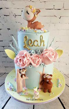 New Cake Decorating Baby Shower Woodland Animals 20 Ideas - Cake Decorating Cupcake Ideen Cool Birthday Cakes, Birthday Cake Girls, Woodland Cake, Fondant Baby, Cake Fondant, Animal Cakes, New Cake, Girl Cakes, Cake Tutorial