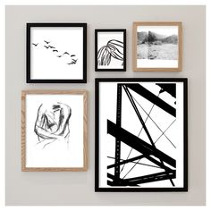 Create your own gallery wall w/ the art prints on Minted.com! And the frames are surprisingly inexpensive! Brilliant.