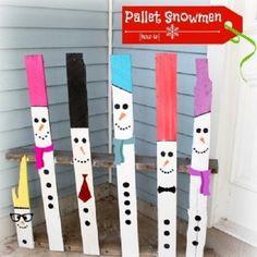 #pallet #snowman