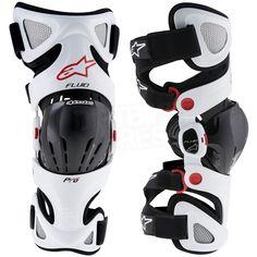 2016 Alpinestars Fluid Pro White Knee Braces - Pair