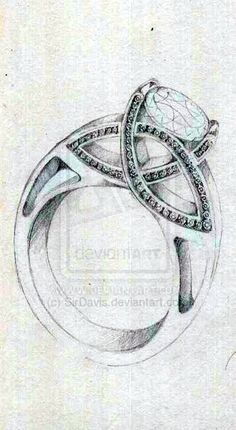 .celtic jewel sketch