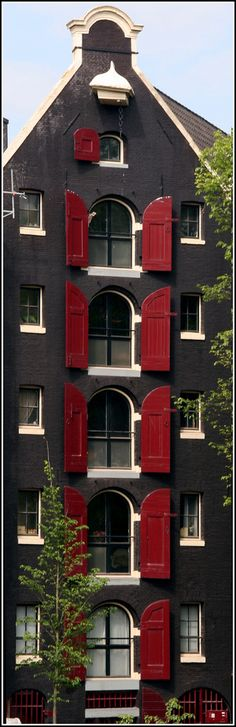 Amsterdam building with red shutters | Flickr - Photo Sharing!