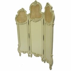 French Style Dressing Screen Ivory