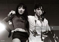 Prince (TAFKAP) and Mayte Garcia perform on stage at Brabant hallen, Den Bosch, Netherllands, 24th March 1995.