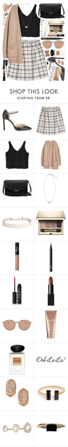 """""""{don't act like you haven't been there}"""" by kk-purpleprincess ❤ liked on Polyvore featuring Jimmy Choo, Carven, MANGO, Kendra Scott, Humble Chic, Clarins, NARS Cosmetics, Linda Farrow, La Mer and Giorgio Armani"""