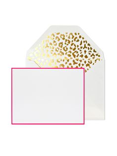 A note card set for lovers of snail mail. The leopard envelope liner makes for a fun touch.