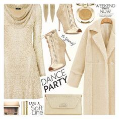 """DANCE PARTY"" by shoaleh-nia ❤ liked on Polyvore featuring Nicole Coste, Gianvito Rossi, Milani, Kenneth Jay Lane, Christian Louboutin, Clarins and Wander Beauty"