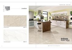 Millennium Tiles 600x1200mm (24x48) Digital Brilliante Recta PGVT Porcelain Floor Tiles Random Series.  - Saphire Beige  - Victoriya Bianco