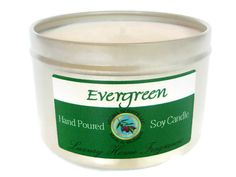 Evergreen candle  soy candles  holiday candles  by AromaScentsLLC