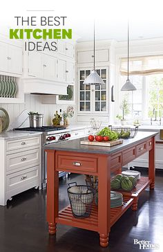 Kitchens are the heart of the home, and everyone uses them differently. Explore our vast collection of kitchen decorating ideas, plus check out our collection of kitchen remodeling ideas and photos featuring modern, country,