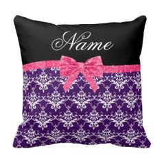 $$$ This is great for          Custom name purple damask pink glitter bow pillow           Custom name purple damask pink glitter bow pillow Yes I can say you are on right site we just collected best shopping store that haveHow to          Custom name purple damask pink glitter bow pillow t...Cleck Hot Deals >>> http://www.zazzle.com/custom_name_purple_damask_pink_glitter_bow_pillow-189149251063179706?rf=238627982471231924&zbar=1&tc=terrest