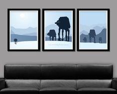 Star Wars Inspired - Hoth Tribute - Minimalist Movie Poster Set - Edition Two - Home Decor Star Wars Room, Star Wars Art, Forrest Gump, Decoracion Star Wars, Star Wars Zimmer, Stormtrooper, Ideas Hogar, Star Wars Poster, Wonderwall