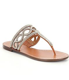 Antonio Melani Fabrice Jeweled TStrap Sandals #Dillards