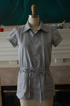 Refashion 12: Laverne Drawstring Shirt from Men's Dress Shirt by phthooey, via Flickr
