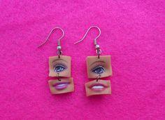 SO DOPE!!!  .....Eye and Lips Dolls Earrings from La Punkita