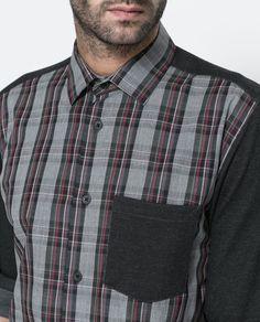 CAMISA ESPALDA Y MANGAS CIRCULAR - Camisas - Hombre | ZARA España
