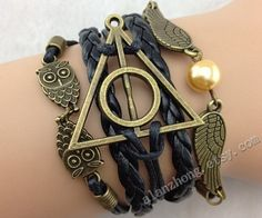 Hey, I found this really awesome Etsy listing at https://www.etsy.com/listing/173477100/harry-potter-jewelry-owl-bracelet-retro
