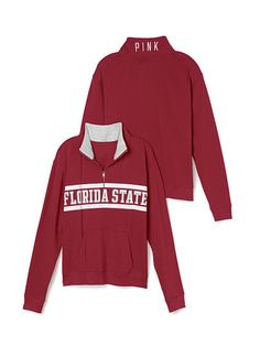 Florida State University Boyfriend Half Zip PINK