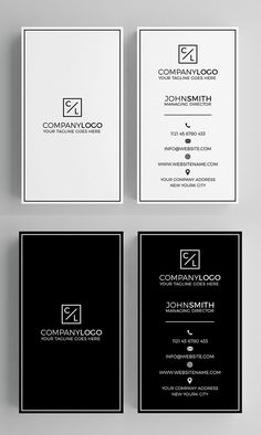 Minimal Business Card for personal and company use. Minimal Business Card Template Features - Light + Dark - Layered PSD Files - 300 DPI - Print Ready - x Business Card Psd, Minimalist Business Cards, Elegant Business Cards, Modern Business Cards, Business Design, Corporate Design, Business Card Design Inspiration, Creative Business, Gfx Design