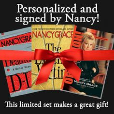 I am personally Hand-Signing each of my books and including personalized message just for you! The set includes all three of my books and will be shipped just in time for the Holidays! Nancy Grace, My Books, Great Gifts, Just For You, Author, Messages, Holidays, Signs, Store