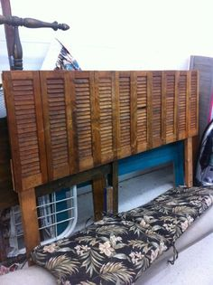 - find some old shutters and you've got yourself a DIY headboard!