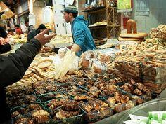 Jerusalem, Israel - Food & Drink, Outdoor market, Shuk Mahane Yehuda, chocolate rugelach pastries