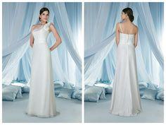A-line Off-the-shoulder Chapel Train Taffeta Floor-length Wedding Dresses