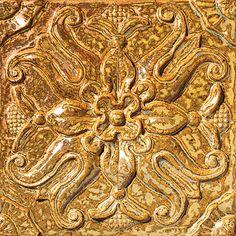 "Tulipan, Color: Bronze, 8X8"" Decorative Tile"