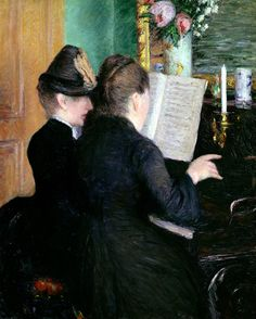 The Piano Lesson Painting by Gustave Caillebotte #pianolessons