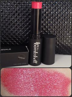 be a bombshell, The One Stick - Flustered swatch found on google images) Not my pic. Mine is swatched once on hand.