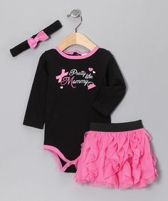 Take a look at this Black & Pink 'Pretty Like Mommy' Headband Set by Baby Essentials on #zulily today!