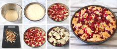 Fransk hallonkaka – Lindas Bakskola Coffee Cake, Pepperoni, Muffins, Food And Drink, Pizza, Desserts, Casseroles, Tips, Tailgate Desserts