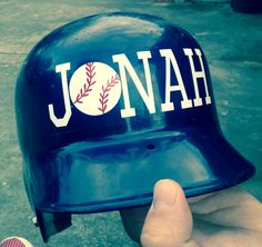 Personalized baseball helmet decal made by: This & that by Meg!! Link to her etsy store below!   https://www.etsy.com/shop/ThisNthatByMeg