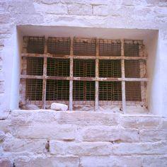Detail Fermo Stripe Festival art and architecture   window   wall   ramparts   stone  