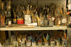 Just imagine the joy of the artist rummaging through all the paint brushes trying to determine which one is going to help give the desired brush stroke.