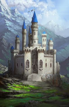 Castle by bluerainCZ hidden fortress mountains landscape location environment architecture   Create your own roleplaying game material w/ RPG Bard: www.rpgbard.com   Writing inspiration for Dungeons and Dragons DND D&D Pathfinder PFRPG Warhammer 40k Star Wars Shadowrun Call of Cthulhu Lord of the Rings LoTR + d20 fantasy science fiction scifi horror design   Not Trusty Sword art: click artwork for source