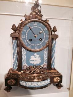 Wedgwood clock - 1878 Case by Richard Reynoldson  Movement by Henry Mare, located at Birmingham Museum of Art