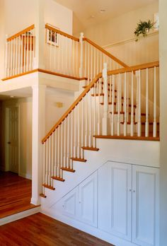 Traditional Staircase Storage Design, Pictures, Remodel, Decor and Ideas - page 8 Cabinet Under Stairs, Storage Under Staircase, Stair Storage, Types Of Stairs, Traditional Staircase, Welcome To My House, Basement Remodeling, Basement Ideas, Storage Design