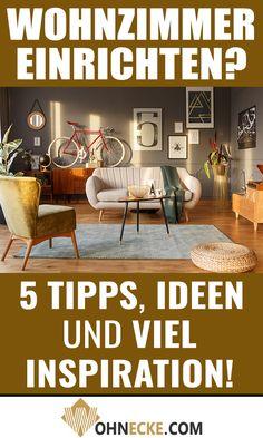 Das eigene #Wohnzimmer einrichten kann eine Menge Spaß bereiten. Mit Klick auf das Bild findest Du 5 Tipps, Ideen und viel #Inspiration für Deine gemütliche und schöne Wohnstube! #Wohnzimmereinrichtung #WohnzimmerIdeen Simple Electronics, Diy Projects, Routine, Motivation, Home Decor, Main Colors, Living Room Inspiration, Wall Murals, Tips
